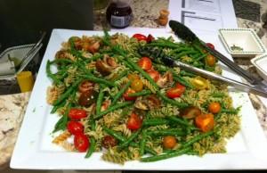 Brown Rice Pasta Salad with Basil Pesto - Gluten-free